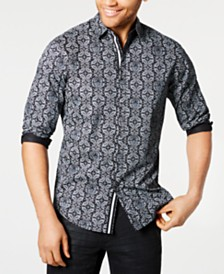I.N.C. Men's Paisley Skull Shirt, Created for Macy's