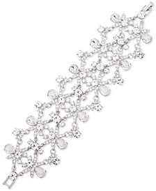 Silver-Tone Crystal Statement Flex Bracelet