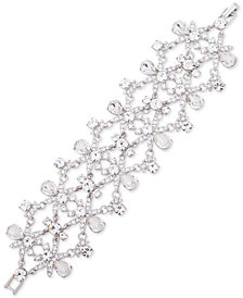 Givenchy Silver-Tone Crystal Statement Flex Bracelet