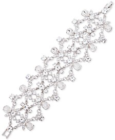 Givenchy Silver-Tone Crystal Statement Flex Bracelet