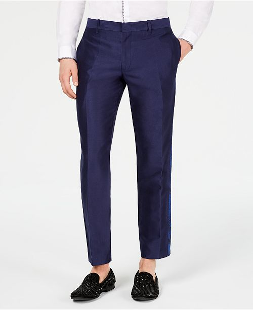 INC International Concepts I.N.C. Men's Slim-Fit Jacquard Pants, Created for Macy's