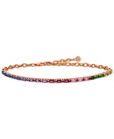 Le Vian® Multi Gemstone Rainbow Bracelet in 14k Strawberry Gold®