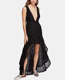Free People Catalina Plunging High-Low Dress