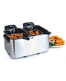 Elite Platinum Stainless Steel Dual Deep Fryer