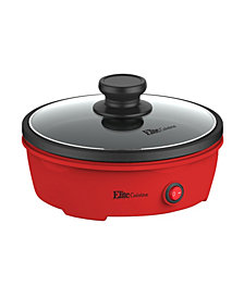 """Elite Cuisine 8.5"""" Round Personal Skillet with Glass lid"""