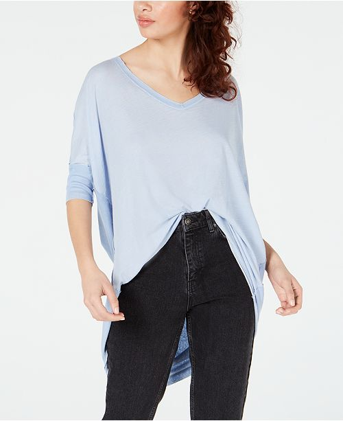 Free People Catch Waves High-Low T-Shirt