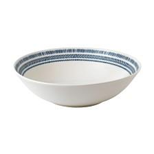 ED Ellen DeGeneres Crafted by Royal Doulton Cobalt Blue Chevron Serving Bowl