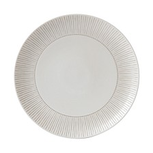 Crafted by Royal Doulton Taupe Stripe Dinner Plate