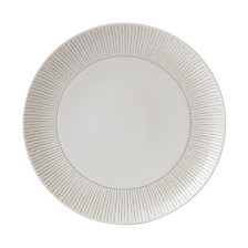 ED Ellen DeGeneres Crafted by Royal Doulton Taupe Stripe Dinner Plate