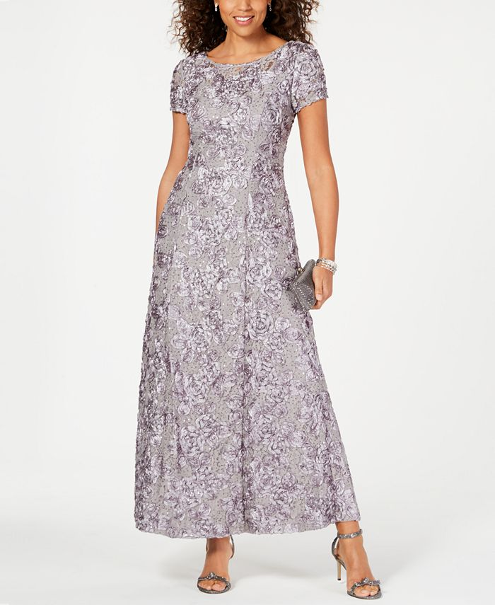 Alex Evenings - A-Line Rosette Dress