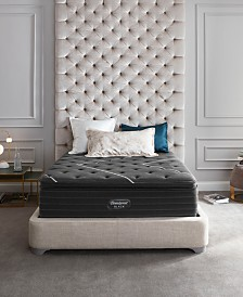 "Beautyrest Black C-Class 16"" Plush Pillow Top Mattress Set - Queen"