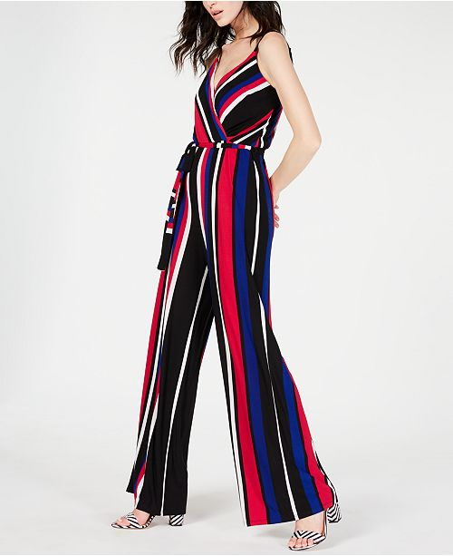 INC International Concepts I.N.C. Petite Striped Jumpsuit, Created for Macy's