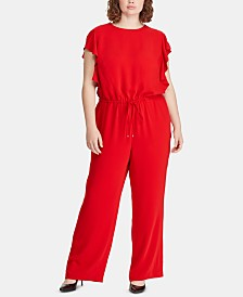 Lauren Ralph Lauren Plus Size Twill Jumpsuit
