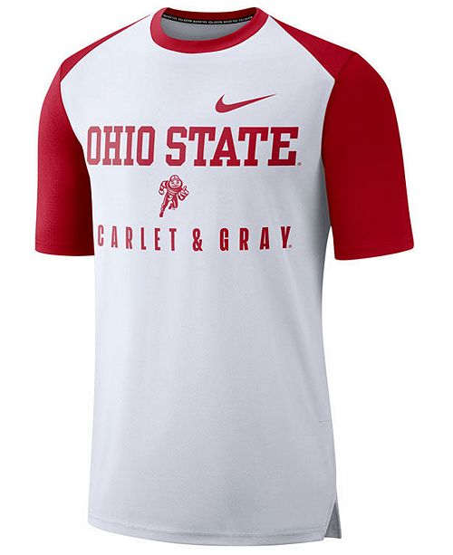 Nike Men's Ohio State Buckeyes Vault Raglan T-Shirt