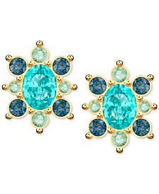 Swarovski Gold-Tone Lucky Goddess Small Stud Earrings