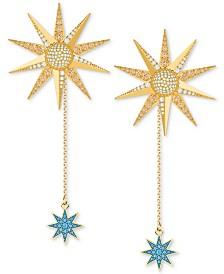 Swarovski Gold-Tone Lucky Goddess Extra Large Long Drop Earrings