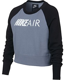 Nike Big Girls Air Logo Graphic Sweatshirt