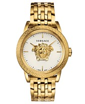 333f2126e3 Versace Men's Swiss Palazzo Empire Gold-Tone Stainless Steel Bracelet Watch  43mm