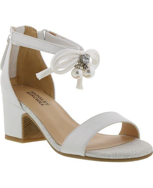 88b933cfd1c2 Badgley Mischka Little   Big Girls Pernia Pearl Bow Dress Shoe ...
