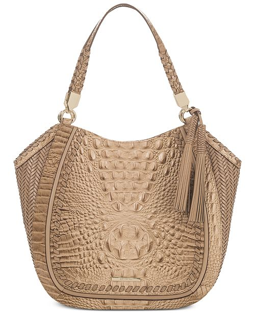 Brahmin Marianna Honeycomb Robbins Leather Tote