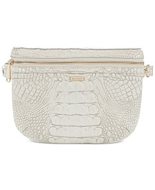 Brahmin Convertible Melbourne Embossed Leather Belt Bag