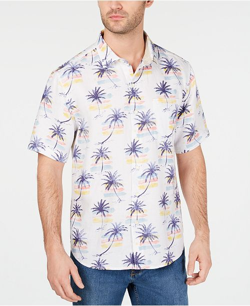 4e1ae14f50535 Tommy Bahama Men s Linen Sunset Palm Tree Shirt   Reviews - Casual ...