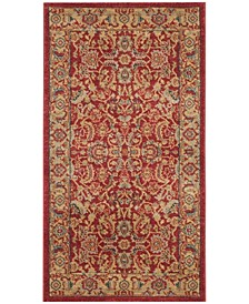 Mahal Red and Natural 3' x 5' Area Rug