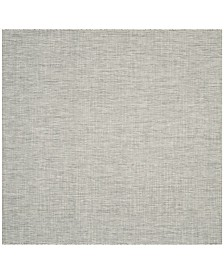 "Safavieh Courtyard Gray and Turquoise 6'7"" x 6'7"" Sisal Weave Square Area Rug"