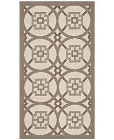 "Safavieh Courtyard Beige and Dark Beige 2' x 3'7"" Sisal Weave Area Rug"