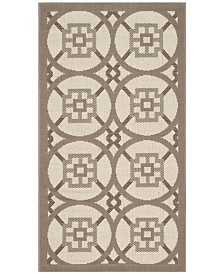 "Safavieh Courtyard Beige and Dark Beige 2' x 3'7"" Sisal Weave Area Rug"