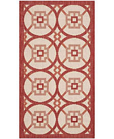 "Safavieh Courtyard Beige and Red 2' x 3'7"" Sisal Weave Area Rug"