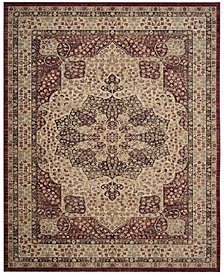 Safavieh Lavar Kerman Creme and Red 8' x 10' Area Rug
