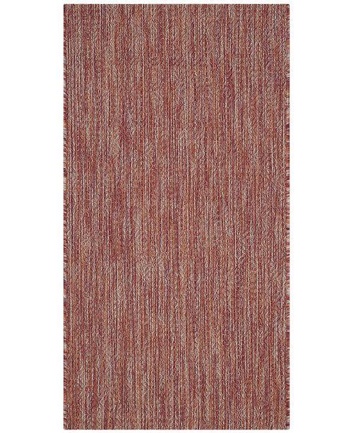 "Safavieh Courtyard Red 2' x 3'7"" Sisal Weave Area Rug"