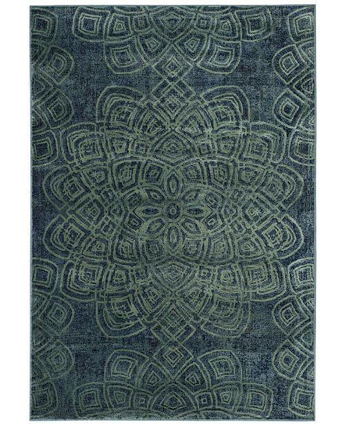 """Safavieh Constellation Vintage Light Blue and Multi 4' x 5'7"""" Area Rug"""