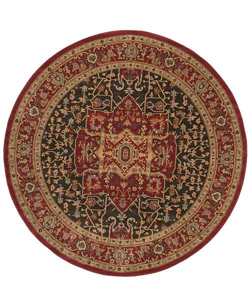 "Safavieh Mahal Red 6'7"" x 6'7"" Round Area Rug"