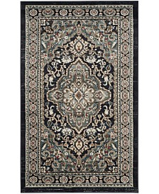 """Safavieh Lyndhurst Anthracite and Teal 3'3"""" x 5'3"""" Area Rug"""