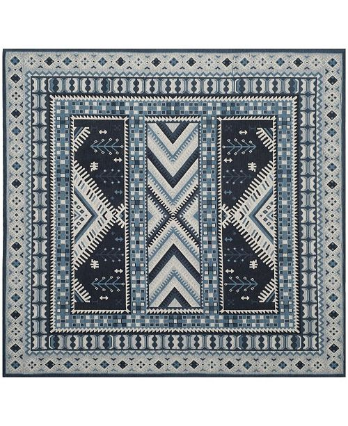 Safavieh Classic Vintage Navy and Light Blue 6' x 6' Square Area Rug
