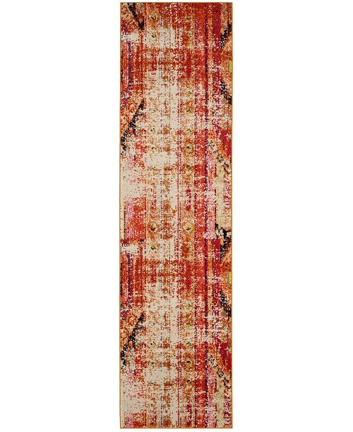 "Safavieh Monaco Orange and Multi 2'2"" x 6' Runner Area Rug"