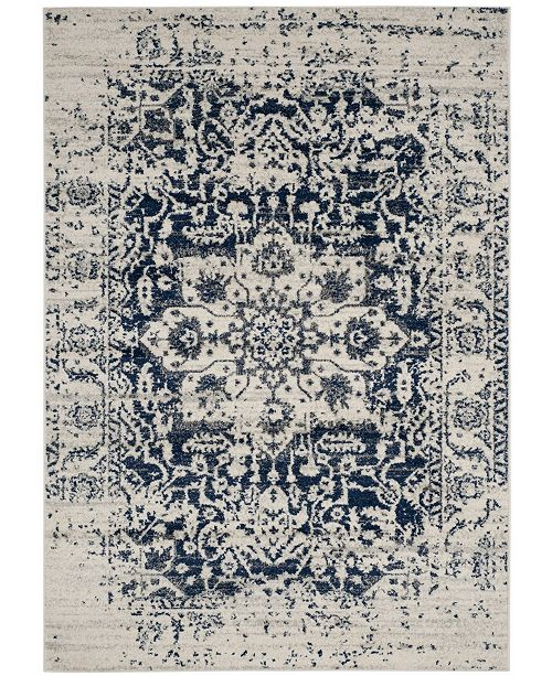Safavieh Madison Cream and Navy 10' x 14' Area Rug