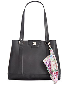 Giani Bernini Leather Tote with Scarf, Created for Macy's