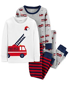 Carter's Baby Boys 4-Pc. Rescue Vehicle Cotton Pajamas Set