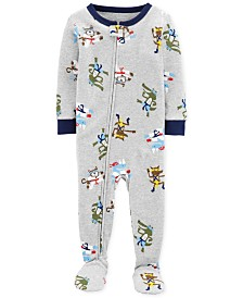 Carter's Baby Boys Footed Printed Pajamas