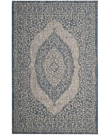 "Safavieh Courtyard Light Gray and Blue 2' x 3'7"" Sisal Weave Area Rug"