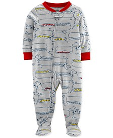 Carter's Baby Boys Footed Hot Dog Pajamas