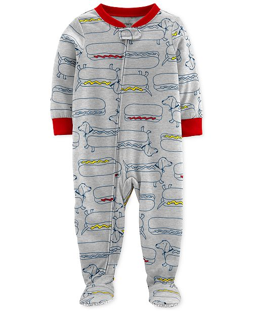 181d27317 Carter's Baby Boys Footed Hot Dog Pajamas & Reviews - Pajamas - Kids ...