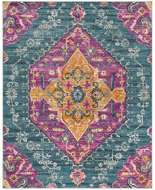 Safavieh Madison Blue and Fuchsia 8' x 10' Area Rug