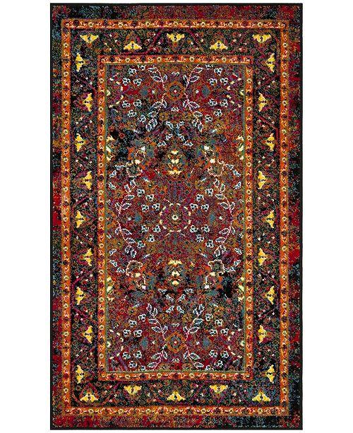 Safavieh Cherokee Red and Black 3' x 5' Area Rug