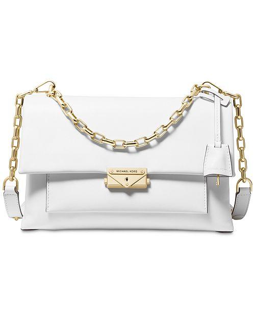 e755f0df75fc Michael Kors Cece Polished Leather Chain Shoulder Bag & Reviews ...