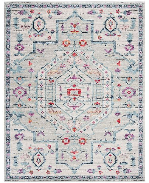 Safavieh Madison Light Gray and Fuchsia 9' x 12' Area Rug