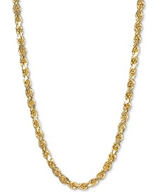 "22"" Rope Chain Necklace in 14k Gold"